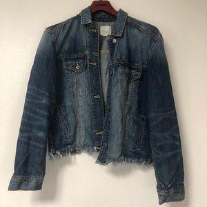 American eagle slightly cropped denim jacket